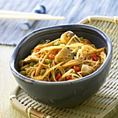 Pan-cooked glass noodles and vegetables (China)