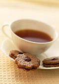 Linzer Plätzchen zum Tee