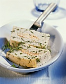 Salmon trout pâté with dill