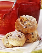 Milk rolls with raisins