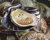 Oyster with champagne sauce
