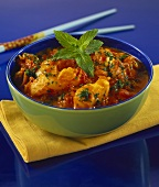Fish curry with tomatoes