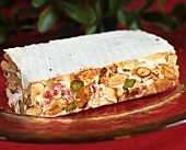 Turrone (white nougat with nuts, honey, egg white)