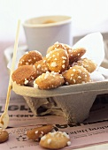 Amarettini (almond biscuits) Lombardy, Italy
