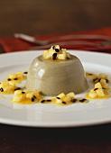 Panna cotta with pineapple sauce