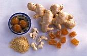 Ginger: fresh, dried, ground, crystallised, bottled