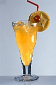 Screwdriver in long drink glass