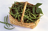 French beans and Kenya beans in a basket