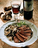 Roast duck breast with ceps