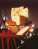 Assorted Cheeses with Red Wine