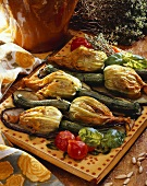 Stuffed courgette flowers, Italy