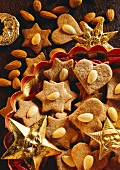 Almond stars and hearts