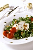 Goat's cheese salad for Christmas