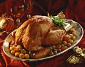 Roast capon for Christmas