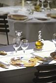 Tables with settings (Auberge la Feniere, Lourmarin)