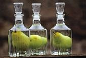 Birnenschnaps mit ganzer Birne in der Flasche, Elsass
