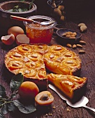 Apricot tart with almonds