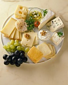 A Platter of Assorted Cheeses