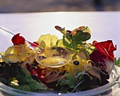 Summer salad with mustard vinaigrette