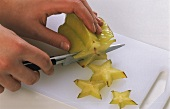 Cutting up a carambola