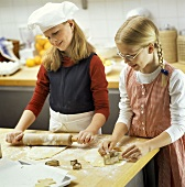 Two Girls Baking Cookies