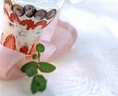Soft fruit and pistachio yoghurt