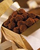 Rum truffle in gift box