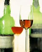 Glass of Madeira; Bottle