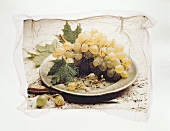 Still life with grapes - illustration on tissue paper