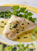 Cod fillet in mustard butter