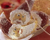 Pastry Father Christmas face