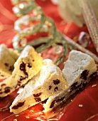 Shortbread with redcurrants for Christmas
