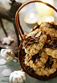 Oat biscuits in basket