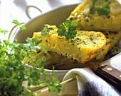 Egg potatoes (potato quiche with eggs)