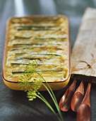 Potato and leek gratin with Reblochon