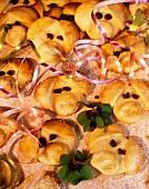Piglet face marzipan cookies