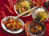 Four Chinese dishes