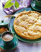 Apple souffle tart
