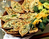 Courgette tarts with rosemary and thyme