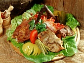 Wooden meat platter from  Transylvania