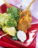 Breaded Lamb Cutlet with Watercress and Potato Salad