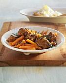 Lamb goulash with carrots