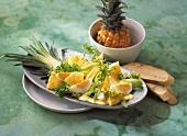 Egg and pineapple salad