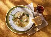 Sauerkraut soup with meatballs