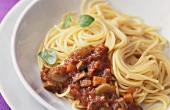 Spaghetti alla coda di bue (Spaghetti with oxtail sauce)