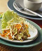 Chinese cabbage salad with ginger and mustard dressing