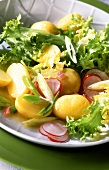 Mixed salad with new potatoes
