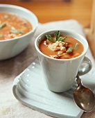 Vegetable and pot barley soup with meat