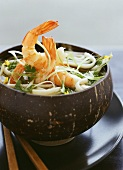 Soup with shrimps and noodles