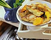 Potato casserole with spring onions